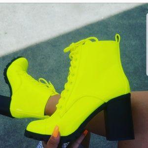 Shoes - 🚨ON SALE//Festival Szn//NeonYellow bootie